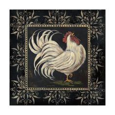 Black and White Rooster I Poster by Jo Moulton at AllPosters.com