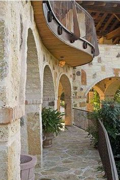 A magical romantic passage hidden in a new world sustainable Austin home - Designed by Marley Porter.
