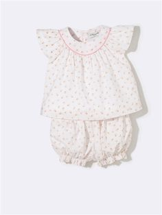 BABY SHIRT + BLOOMERS OUTFIT FLOWER PRINT