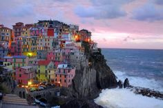 "A small town called Manarola, Italy. It's one of five hill top ""lands"" that make up Cinque Terre."