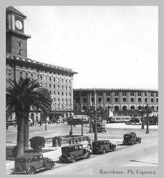 Plaça Espanya, BCN. Abans de l'Exposició de Montjuic.