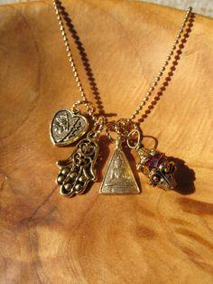 Buddha Blessing Necklace  Gold Tone Buddha by DestinyAccessory, $26.00