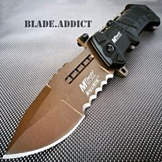 M-Tech BALLISTIC ARMY Bronze Tactical Military Spring Assisted Open Pocket Knife in Collectibles, Knives, Swords & Blades, Folding Knives   eBay