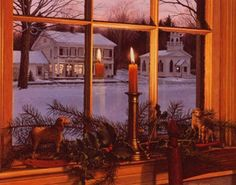 new england window candles | Candle in window at christmas, old Irish tradition