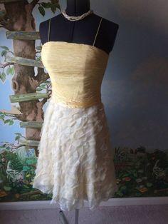 SUCHADA Women's Yellow Silk Sleeveless Dress SZ 8 #SUCHADA #Cocktail
