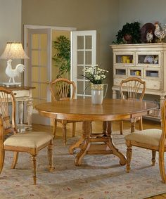 Another great find on #zulily! Antique Pine Wilshire Oval Dining Table #zulilyfinds