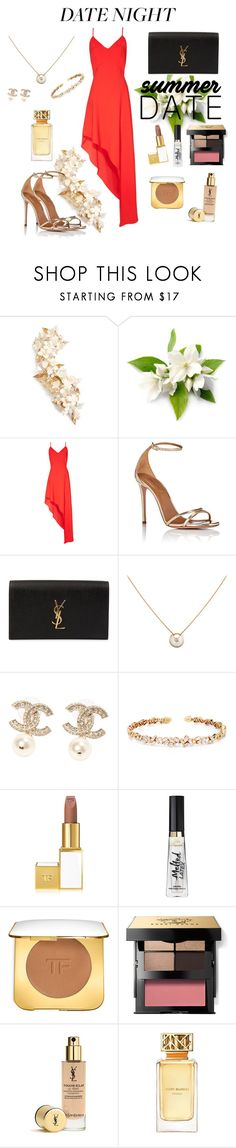 """""""Untitled #37"""" by glamgirlworldwide on Polyvore featuring Twigs & Honey, Alice + Olivia, Aquazzura, Yves Saint Laurent, Chanel, Suzanne Kalan, Tom Ford, Bobbi Brown Cosmetics and Tory Burch"""