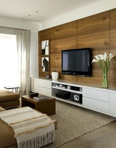 How to use modern TV wall units in living room wall decor Furniture, House Design, Interior, Home, Modern Tv Wall Units, House Interior, Living Decor, Home And Living, Living Room Tv