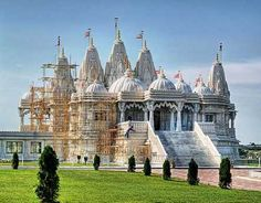 Baps Swaminarayan Temple in Toronto  Imported from India, there is no nails, metal or concrete in this structure, it is all interlocking cut stone.
