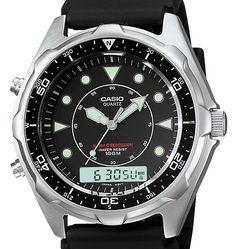 Casio Mens AMW320R-1EV Marine Analog-Digital Dive Watch
