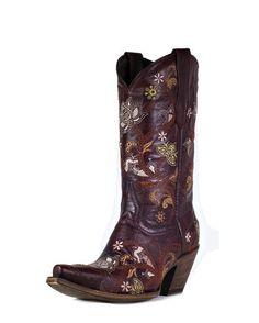 Women's Gardenia Floral Boot - Red Oklahoma