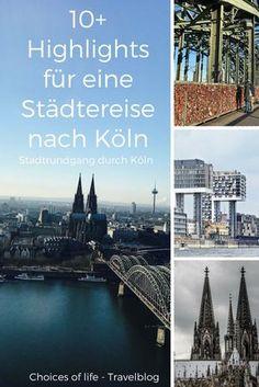 Top Städtetipps aus Köln, meiner Heimat. Sehenswürdigkeiten, coole Location, Aussichtspunkte und Fotospots in Köln warten darauf von euch entdeckt zu werden. Ich habe alles in einer Karte zusammengefasst. | Köln, Colonia, Cologne, Kurzreise, Städtetrip Köln, NRW, Köln Städtereise