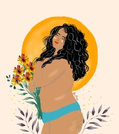 We need more art like this hands up if you agree! Black Girl Art, Black Art, Art Girl, Body Image Art, Plus Size Art, Positive Body Image, Feminist Art, Art Plastique, Art Inspo