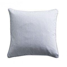 Tine K Home 50x50cm Cushion cover, piping, blue/white striped