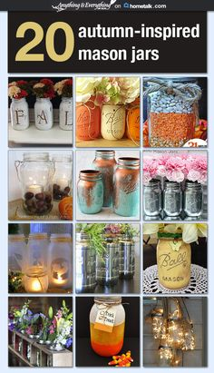 Fall+mason jars=a match made in heaven :) I know what I'll be crafting this weekend!