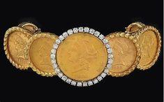 Resultado de imagem para gold coin bracelet
