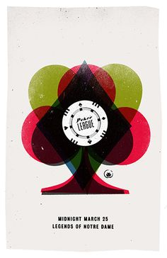 Poker League gig poster by Swell Cutter