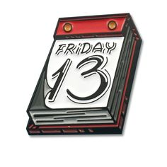 """""""I'm not superstitious, but I am a little stitious.""""Whether your a Voorhees fan or you just like black cats, then this pin is for you! -1""""-1 Post-Soft Enamel-Rubber..."""