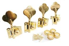 Surfing Gold Bass Guitar 4R Machine Heads Knobs Tuners tuning pegs