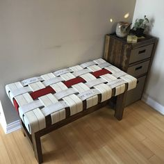 This Fire Hose Bench - Firefighter - Thin Red Line - birthday gift fireman Christmas present is just one of the custom, handmade pieces you'll find in our home décor shops. Firefighter Room, Firefighter Home Decor, Firefighter Birthday, Firefighter Apparel, Firefighter Wedding Cakes, Fireman Room, Firefighter Stickers, Firefighter Paramedic, Firefighter Quotes
