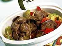 Receitas - Fígado de galinha com pimentão - Petiscos.com