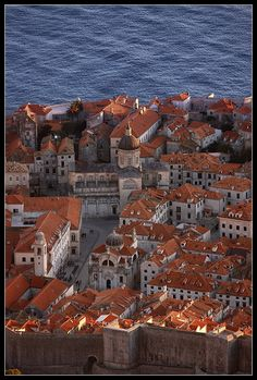 Dubrovnik, Croatia.  A moving visit, knowing that this picture perfect coastal walled village had survived a sustained artillery attack by the Yugoslav army in recent history.