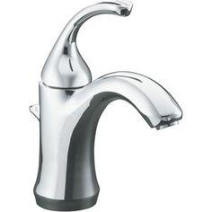 Kohler K10215-4-CP Forte Sculpted Single Hole Bathroom Faucet - Polished Chrome