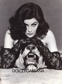 Dolce & Gabbana ad featuring actress Sherilyn Fenn from Italian Vogue, 1991 issue