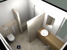 Minibad mit Dusche, WC und Waschplatz | Badezimmer, Bäder und Gäste wc