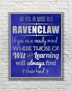 Harry Potter Typography Quote The Four Hogwarts by FanFaires  According to the Sorting Hat