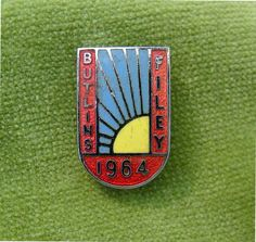 A Genuine Red Blue Yellow Butlins Metal Enamel Filey 1964 Pin Badge 1 across metal and enamel in a good general condition Pin is in full working Butlins Holidays, Retro Posters, Button Badge, North Yorkshire, Camps, Pin Badges, Vintage Postcards, Resorts, Blue Yellow