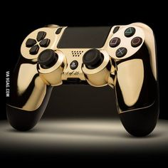 24k Gold PS Game Controller