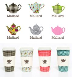 Adorable patterns and designs for Mallard Tea Company by Sarah Walsh
