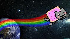 Nyan Cat HD Wallpaper by PixelFXofficial.deviantart.com on @DeviantArt