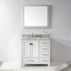 Vinnova Asti 40Inch White Single Vanity With White Dropin Entrancing 40 Inch Bathroom Vanity Decorating Inspiration