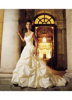 EXQUISITE TAFFETA A-LINE WEDDING DRESS LACE BRIDESMAID PARTY BALL EVENING COCKTAIL GOWN IVORY WHITE FORMAL PROM