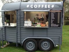 Food Truck Design Trailers Coffee Van New Ideas<br> Catering Trailer, Food Trailer, Converted Horse Trailer, Foodtrucks Ideas, Coffee Food Truck, Mobile Coffee Shop, Mobile Coffee Cart, Coffee Trailer, Mobile Cafe