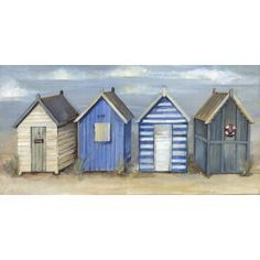 Forest Garden Overlap Dip Treated No Windows Apex Wooden Shed strandhuis Painted Beach Hut Canvas - - Homebase Beach Huts Art, Beach Art, Beach Canvas, Arte Latina, Seaside Theme, Easy Canvas Painting, Wooden Sheds, Mountain Paintings, Diy Bathroom Decor