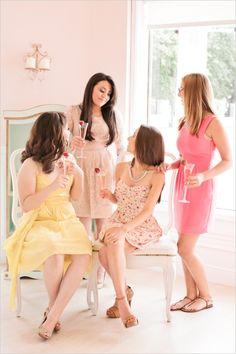 bridal shower fashion #bridesmaids #bridalshower #weddingchicks http://www.weddingchicks.com/2014/02/18/pink-and-blue-bridal-ask-party