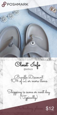 ✨Sandals✨ 💎ask me if you need to see more photos of the item! 💎use offer button to negotiate, most of my prices are flexible   Description: These are in perfect shape. They are very comfortable and stylish and go with just about anything! Shoes Sandals