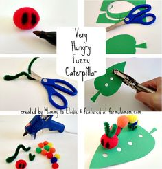 How to Make a Very Hungry Caterpillar #crafts #books