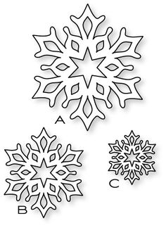 Papertrey Ink - Fancy Flakes Die Collection (set of Papertrey Ink Clear Stamps Dies Paper Ink Kits Ribbon Paper Snowflakes, Christmas Snowflakes, Christmas Paper, Christmas Colors, Christmas Projects, White Christmas, Christmas Ornaments, Christmas Tree, Snowflake Template