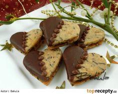 Čokoládová srdíčka Christmas Sweets, Christmas Baking, Christmas Cookies, Macaroons, Wedding Appetizers, Czech Recipes, Cookie Jars, Relleno, Biscotti
