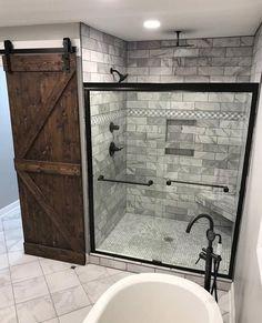 Rustic bathrooms 549228117057814517 - Master Bathroom Remodel : Designs, Tips, & Details Source by ashleywinndesign Bathroom Renovations, Home Remodeling, Bathroom Makeovers, House Renovations, Dream Bathrooms, Large Bathrooms, Luxury Bathrooms, Country Bathrooms, Primitive Bathrooms