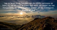 Psalmen 37:5-6 - dailyverses.net
