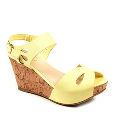 Look at this #zulilyfind! Lemon Teardrop Renata Wedge #zulilyfinds
