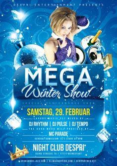 Mega Winter Show Party Flyer Vorlage, Design inkl. Druck, F0005 | Flyer | Designvorlagen | Despri