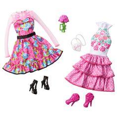 "Explore the glamorous world of Barbie dolls for sale at Toys""R""Us. Bring home a Barbie, Skipper or Ken doll to encourage imaginative play. Barbie Doll Accessories, Doll Clothes Barbie, Barbie Dress, Barbie Outfits, Barbie Stuff, Pink Dress, Vintage Barbie, Accessoires Barbie, Barbie Birthday"
