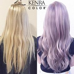 Kenra Professional Technical Educator Mirella Hullum created this gorgeous silvery-violet shade using Kenra Color Silver Metallics and Creative Colors:  Foundation: 7SM Anchor: 7SM/8SM Accent: anchor diffuse to 10SM Glaze: 2oz White Creative + 1/2oz Violet Creative