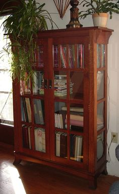 Home offices westbury bookcase home offices havertys furniture mission bookshelf with glass doors planetlyrics Choice Image